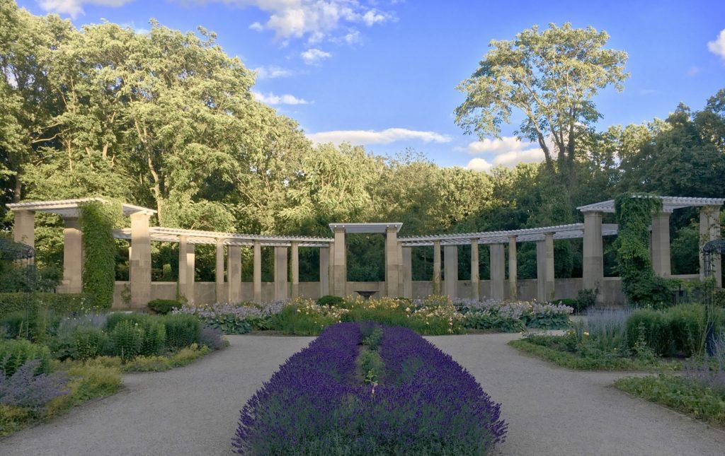 Rosengarten im Juli